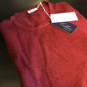 Cellini Italian Men's Maroon Sweater
